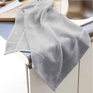 Vierkante grijze handdoek, set van 3