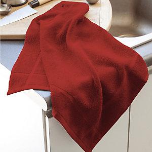 Vierkante rode handdoek, set van 3
