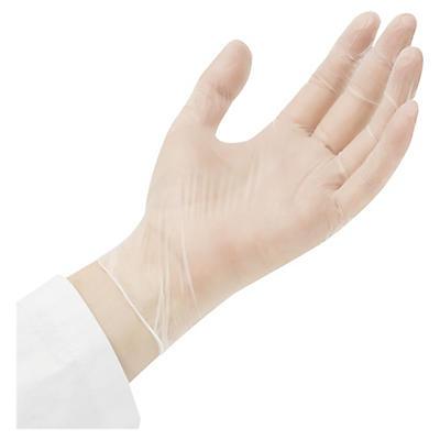 vinylové rukavice bez pudru