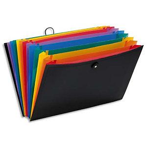 VIQUEL Valise trieur RAINBOW 12 compartiments, en polypro 10/10e, Noir intérieur multicolore