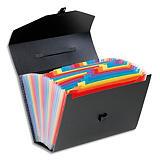 VIQUEL Valise trieur Rainbow 24 compartiements, polypro 10/10e, noir intérieur multicolore