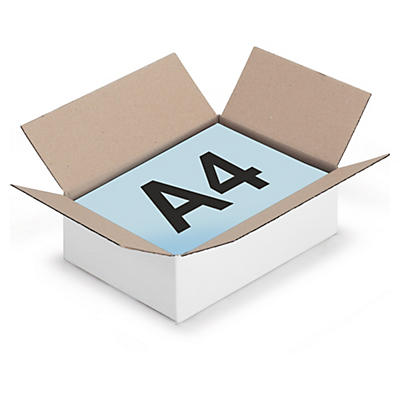 Vita lådor av enwell - A4-format - Rajabox