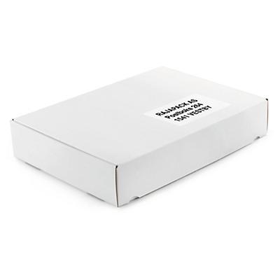 Vita stansade lådor - A4-format
