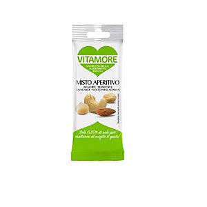 VitaMore, Misto Aperitivo, Frutta secca tostata leggermente salata (confezione 25 grammi)