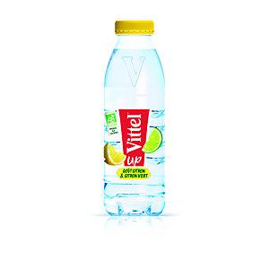 Vittel Up Bio - Eau minérale naturelle aromatisée - Parfum citron vert - Bouteille PET de 50 cl