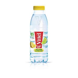 VITTEL Up Bio, eau minétale naturelle aromatisée, parfum citron vert - bouteille PET de 50 cl (lot de 24)