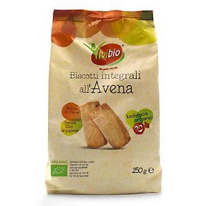 VIVIBIO Biscotti integrali all'Avena Bio, 250 g