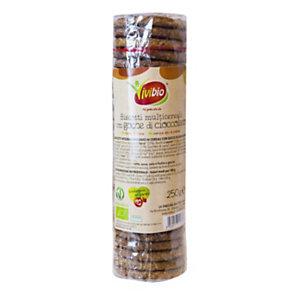 VIVIBIO Biscotti multicereali con gocce di cioccolato Bio, 250 g