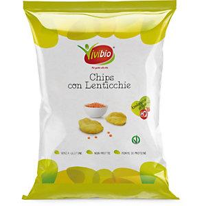 VIVIBIO Chips con Lenticchie Bio, Senza glutine, 35 g