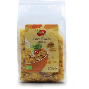 VIVIBIO Corn Flakes Integrali Bio, Senza glutine, 200 g