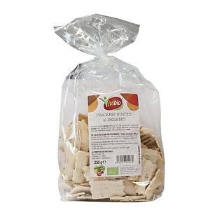 VIVIBIO Crackers rustici al sesamo Bio, 250 g