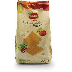 VIVIBIO Crackers rustici di farro Bio, 250 g
