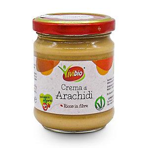 VIVIBIO Crema di Arachidi Bio, Vasetto da 200 g
