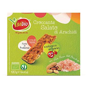 VIVIBIO Croccante alle arachidi salato Bio (confezione 4 pezzi)