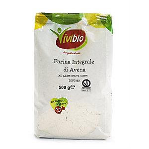 VIVIBIO Farina integrale di avena Bio, 500 g