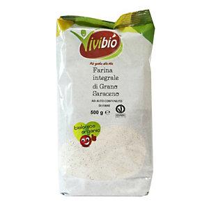 VIVIBIO Farina integrale grano saraceno Bio, 500 g