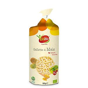 VIVIBIO Gallette 100% mais Bio con sale, Senza glutine, 100 g