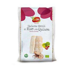 VIVIBIO Gallette di riso sottili Bio con quinoa, Senza glutine, 130 g
