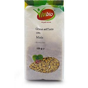 VIVIBIO Grano soffiato con miele Bio, 125 g