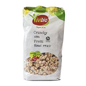 VIVIBIO Linea Biologica Crunchy frutti rossi, 375 gr