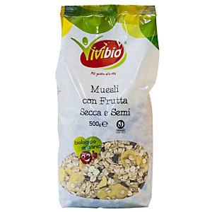 VIVIBIO Linea Biologica Muesli con frutta secca e semi, 500 gr