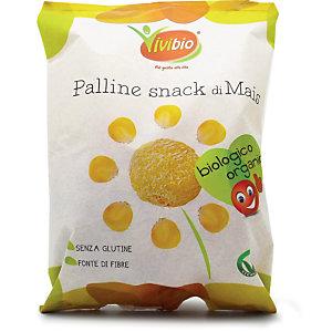 VIVIBIO Palline Snack di Mais Bio, Senza glutine, 40 g