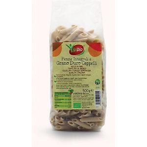 VIVIBIO Penne integrali di grano duro Cappelli Bio, 500 g