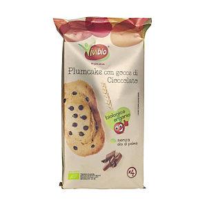 VIVIBIO Plumcake con gocce di cioccolato Bio (confezione 4 pezzi)