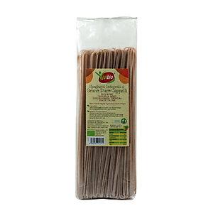 VIVIBIO Spaghetti Integrali di grano duro Cappelli Bio, 500 g