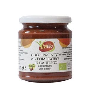 VIVIBIO Sugo pronto al pomodoro e basilico Bio, 300 g