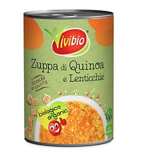 VIVIBIO Zuppa di quinoa e lenticchie Bio, Latta da 400 g