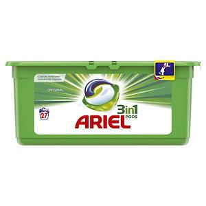 Vloeibaar wasmiddel in doseringen Ariel pods 3 in 1, 27 doserigen Original