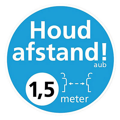 Marquage au sol distanciation sociale 1,5 m##Vloersticker voor social distancing 1,5 m