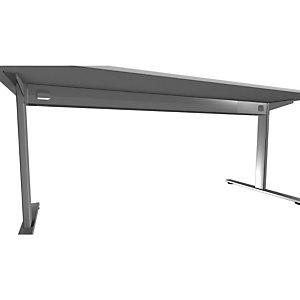 Voile de fond pour bureau Initial - L.160 cm  - Gris aluminium -