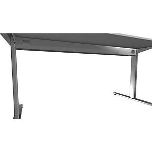 Voile de fond pour bureau Initial - L.180/200 cm  - Gris aluminium -