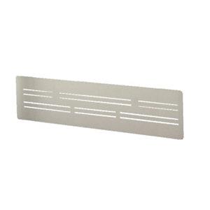 Voile de fond Wood métal 128 X 30 cm - Aluminium
