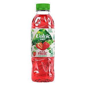 Volvic Eau plate aromatisée Juicy, parfum fraise - Bouteille de PET 50 cl