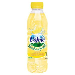 Volvic Touche de fruit Citron, en bouteille, lot de 24 x 50 cl