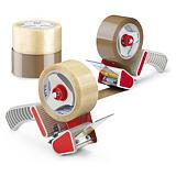 Voordeelpak 6 rollen PP-tape + dispenser Raja