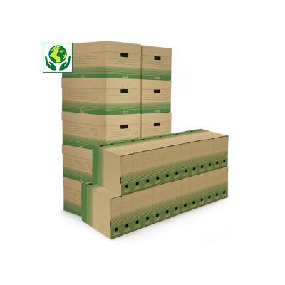 Pack archivage carton recyclé Raja##Voordeelpak archiefdozen + opbergdozen Raja