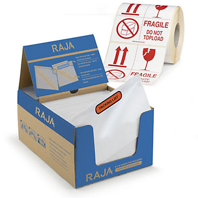 Pack de pochettes porte-documents et étiquettes d'expédition##Voordeelpak documenthoezen en verpakkingsetiketten