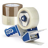 Voordeelpak geluidsarme PP-tape met 6 rollen - industriële kwaliteit