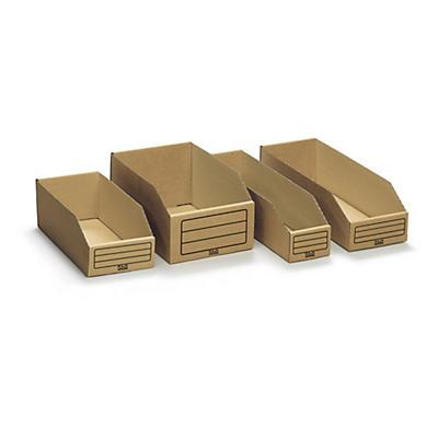 Pack de bacs à bec en carton bruns##Voordeelpak van 300 bruine kartonnen magazijnbakken