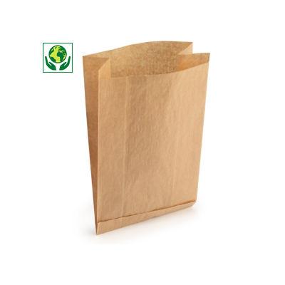 Sachet papier économique à soufflets latéraux##Voordelige papieren zak met zijvouwen