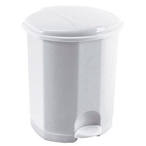 Voordelige plastic vuilnisbak met pedaal 5 L