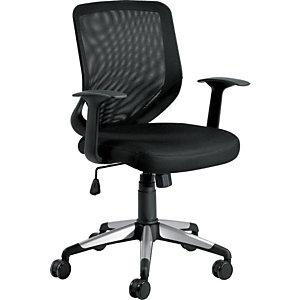 Voyager Silla de oficina, malla y tela, altura 102 cm, negro