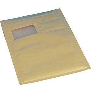 VP 100 Pochettes d'expédition à bulle d'air avec fenêtre, brun, 230x340mm