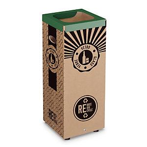 Vuilnisbakken in karton voor selectief sorteren 60 L