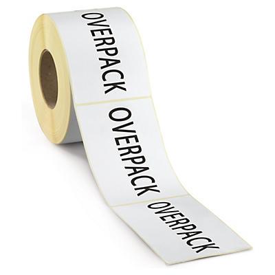 Výstražné etikety OVERPACK