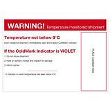 Waarschuwingslabel voor temperatuurindicator COLD